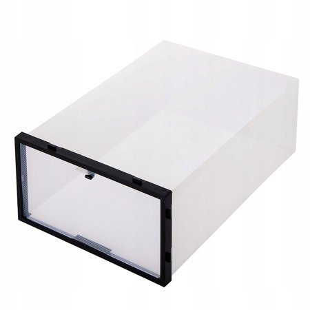 BOX SHOE ORGANIZER CONTAINER WITH A FLAP 1 PC