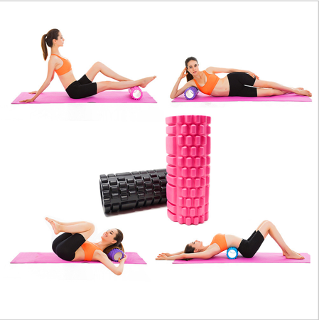Massage / Exercise Roller for Yoga and Crossfit 33*14 cm PINK